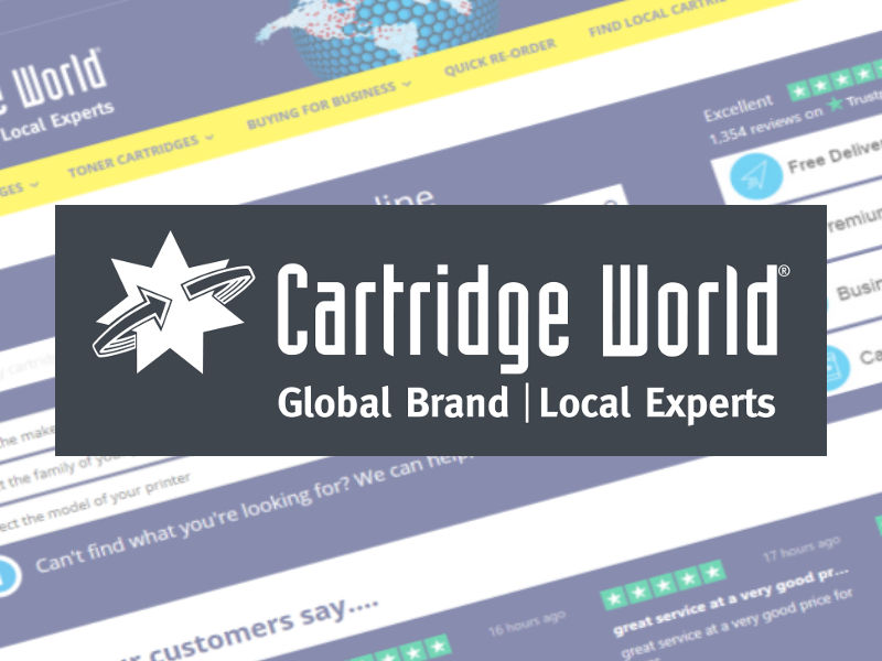 Ecommerce website for Cartridge World